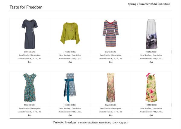 متجر الكتروني تجارة الملابس