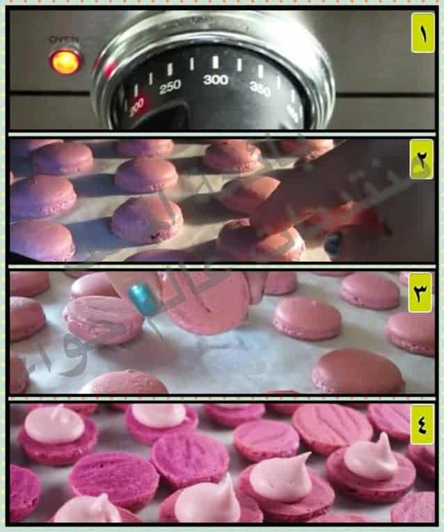 تسوية حلوى الماكرون