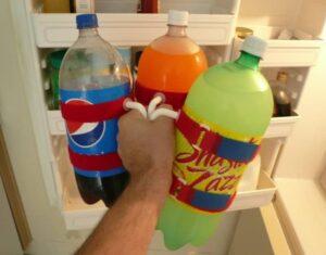 حامل الزجاجات البسيط