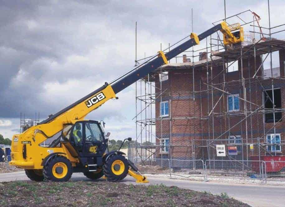 رافعة مواد البناء