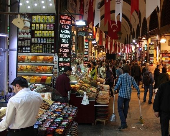 التجارة من تركيا